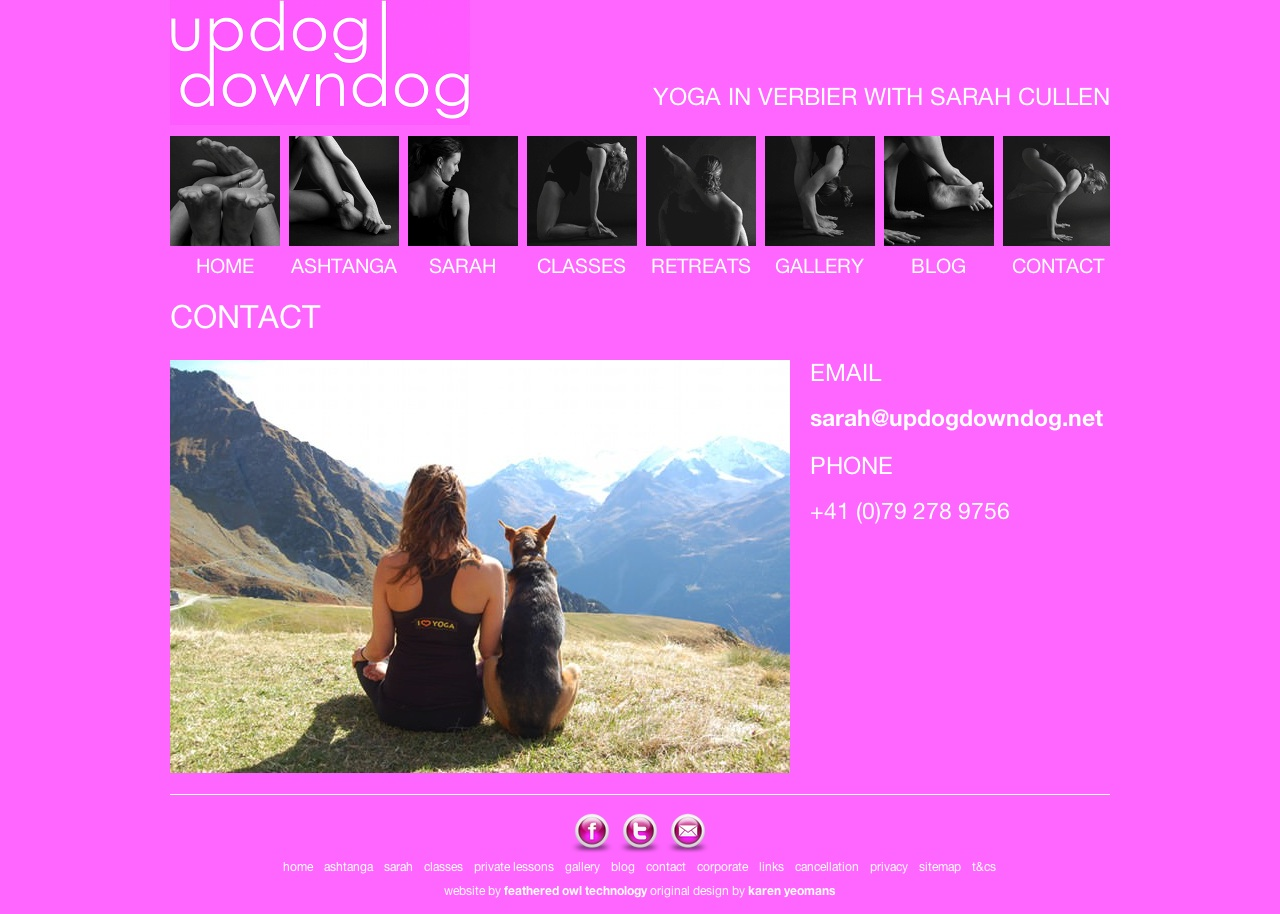 Updogdowndog yoga in verbier