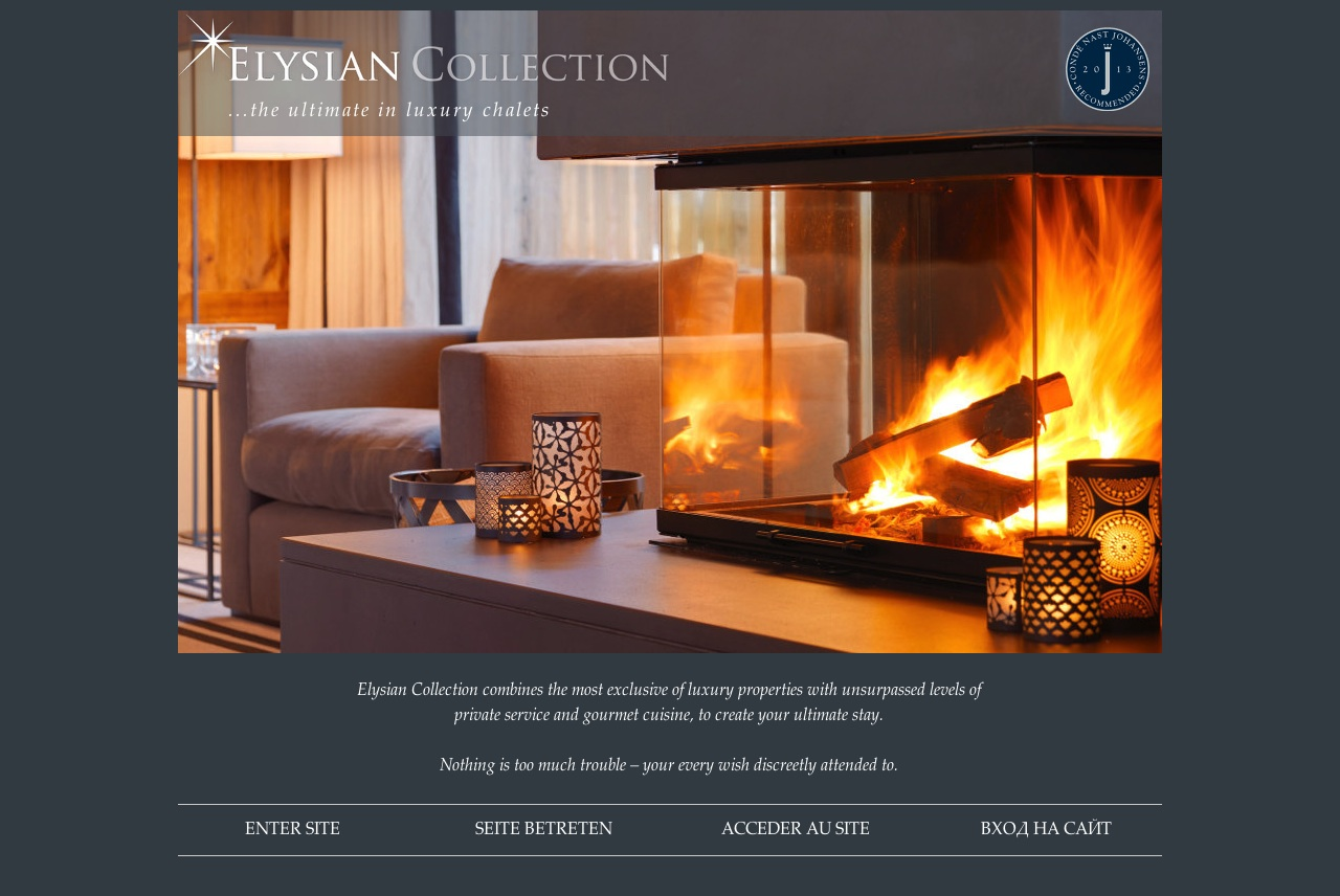 luxury chalet holiday company elysian collection website homepage