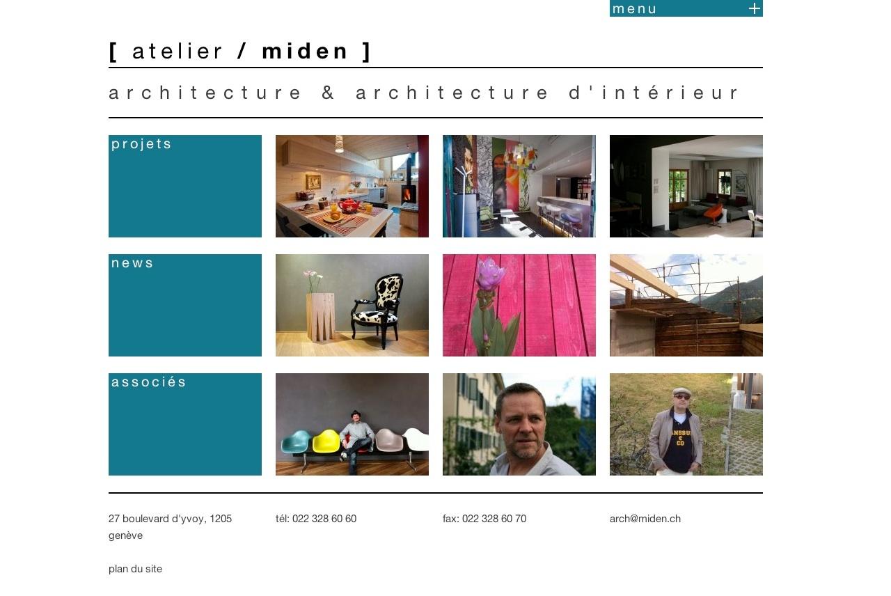 atelier miden geneva architecture firm homepage